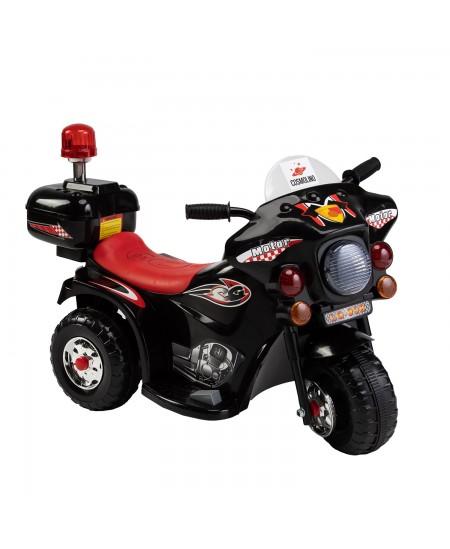 Vaikiškas motociklas su šoniniais ratukais, juodas LQ-998