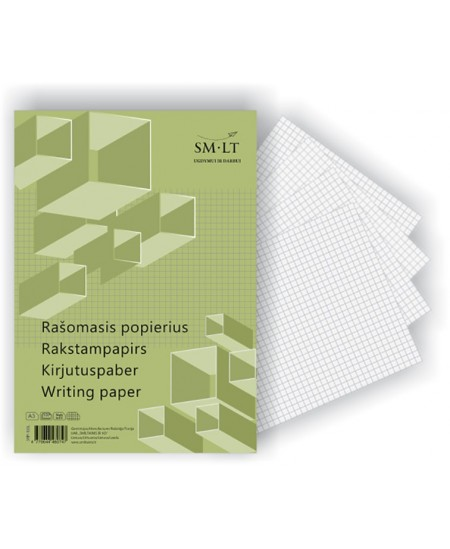 Rašomasis popierius SM-LT, A3, langeliais, 100 lapų