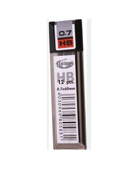 Grafitai automatiniams pieštukams CENTRUM, 0.7 mm (HB), 12 vnt.