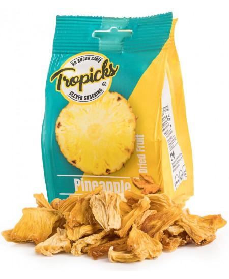 Natūralūs džiovinti ananasai be cukraus TROPICKS, 100 g
