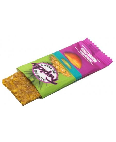 Natūralus džiovintų anansų, mangų ir laimo batonėlis be cukraus TRIPICKS, 20 g