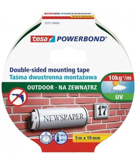 Dvipusė tvirtinimo juosta TESA Powerbond OUTDOOR, 19 mm x 5 m