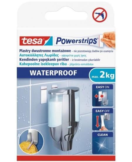 Dvipusio lipnumo juostelė, TESA Powerstrips Waterproof Strips Large, 6 vnt.
