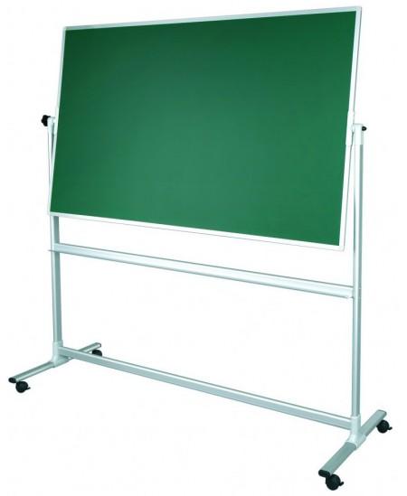 Mobili dvipusė kreidinė magnetinė lenta 2x3, 150x100 cm, aliuminio rėmas, žalia
