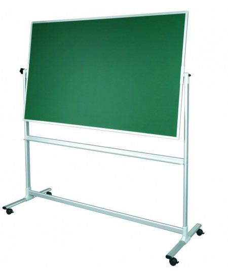 Mobili dvipusė kreidinė magnetinė lenta 2x3, 180x120 cm, aliuminio rėmas, žalia