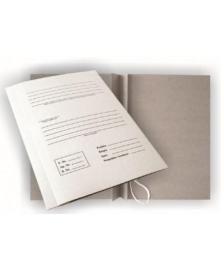Kartoninis aplankas su raišteliais ir spec. spauda SM-LT, 20 mm, 300 g/m2, A4, baltas