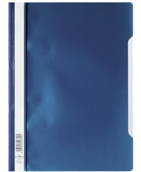 Aplankas dokumentams su įsegėle DURABLE, A4, tamsiai mėlynas