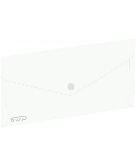 Dėklas - vokas su spaustuku GRAND, DL, 254 x 130 mm, baltas