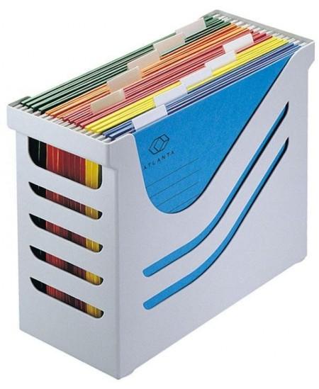 Kartotekinių vokų dėžė JALEMA su 5 kartotekomis, pilka