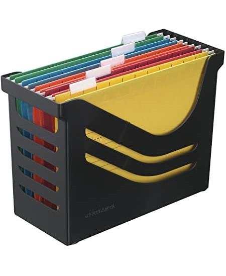 Kartotekinių vokų dėžė JALEMA su 5 kartotekomis, juoda