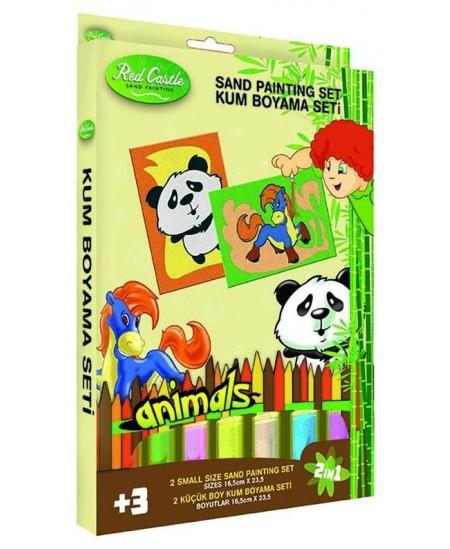"""Piešimo smėliu rinkinys \""""Panda ir arkliukas\"""""""