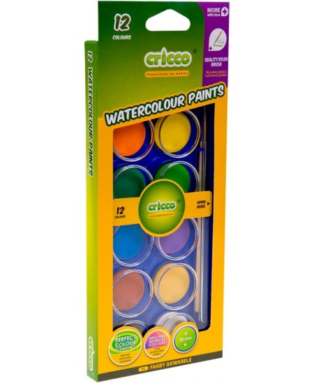 Akvarelė CRICCO, 12 spalvų