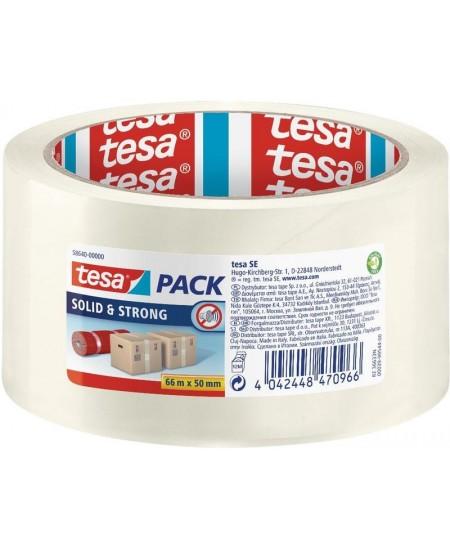 Pakavimo juosta TESA PACK Solid and Strong, 50 mm x 66 m, skaidri