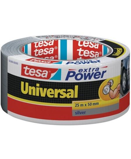 Audinio juosta TESA Extra Power Universal, 50 mm x 25 m, pilka