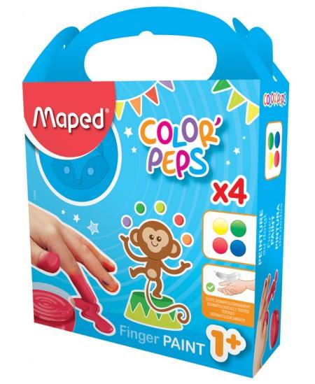 Dažai piešimui pirštais MAPED, 4 spalvos