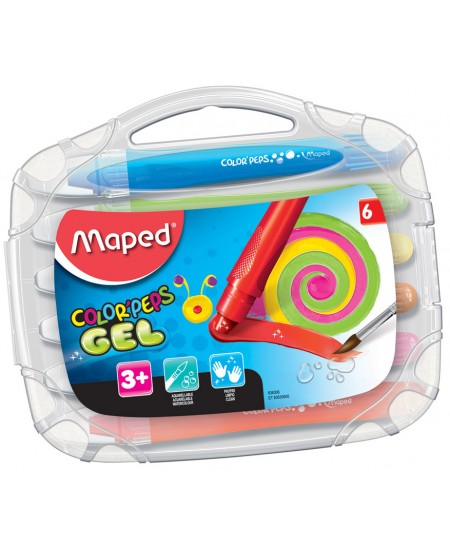 Gelinės kreidelės MAPED Color Peps, 6 spalvos