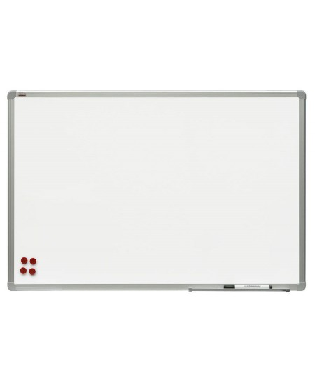 Balta magnetinė lenta 2x3, 120x180 cm, aliuminio rėmas