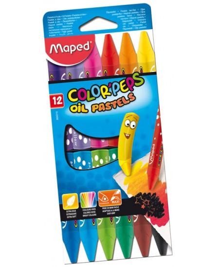 Aliejinės pastelės MAPED Color Peps, 12 spalvų