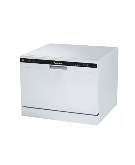 Candy Dishwasher CDCP 6 Free standing, Width 55 cm, Number of place settings 6, Number of programs 6, Energy efficiency class F,