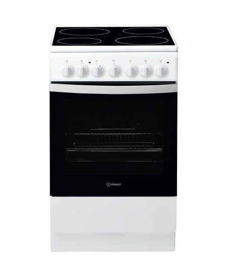 INDESIT Cooker IS5V4PHW/E Hob type Electric, Oven type Electric, White/Black, Width 50 cm, Grilling, 61 L, Depth 60 cm