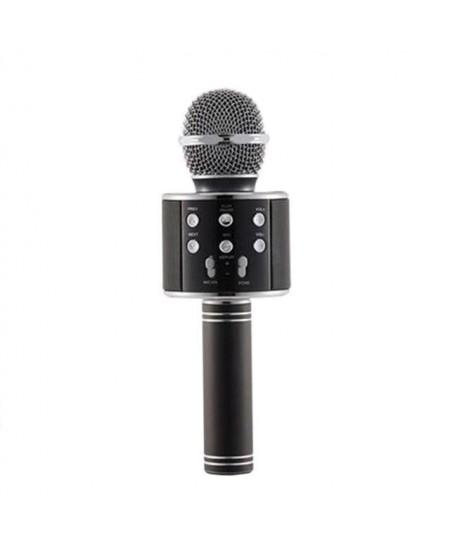 Karaokė mikrofonas - kolonėlė su balso keitimo efektais, juodas, WS-858