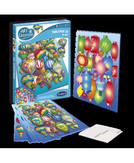 """Kūrybinis rinkinys - 3D paveikslai """"Oro balionai ir žibintai"""""""