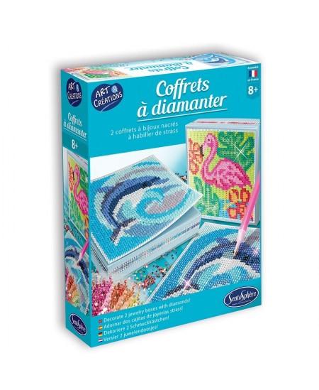 """Kūrybinis rinkinys - deimantinės dėžutės """"Egzotiniai gyvūnai"""""""