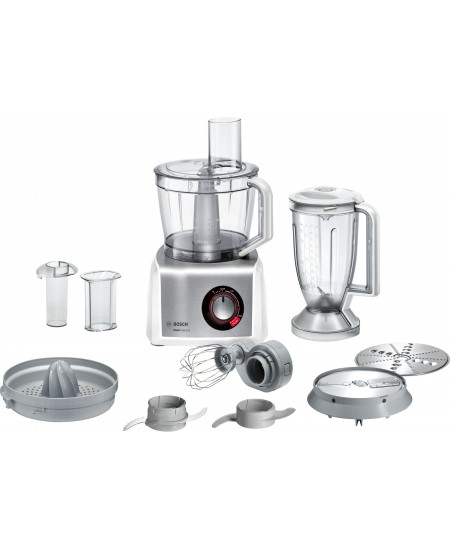 Bosch Food Processor MultiTalent 8 MC812S820 White/Silver, 1250 W, 3.9 L, Blender