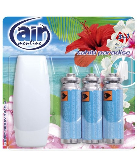Mechaninis oro gaiviklis AIR MENLINE Tahiti Paradise, 3x15 ml