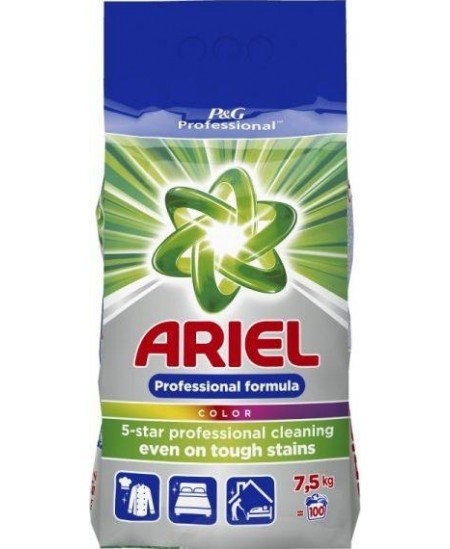 Skalbimo milteliai ARIEL Professional Color, 100 skalbimų, 7.5 kg
