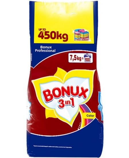 Skalbimo milteliai BONUX Color Pure Magnolia, 100 skalbimų, 7.5 kg