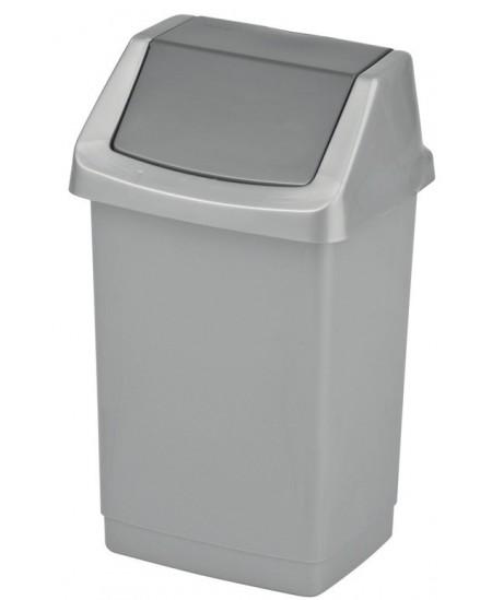 Šiukšliadėžė CURVER Click-It, 9 l, pilka