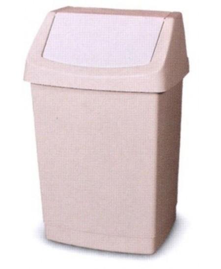 Šiukšliadėžė CURVER Click-It, 9 l, kreminė