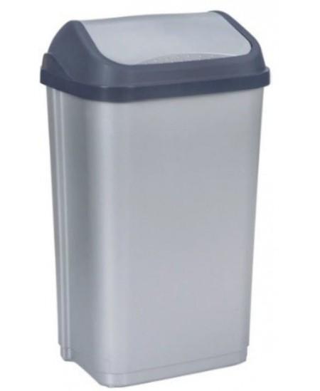 Šiukšliadėžė KEEPER, 50 l, pilka
