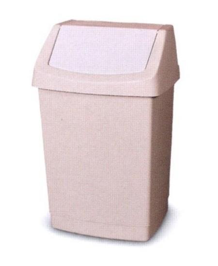 Šiukšliadėžė CURVER Click-It, 15 l, kreminė