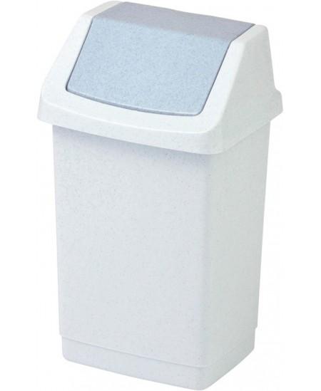 Šiukšliadėžė CURVER Click-It, 15 l, balta