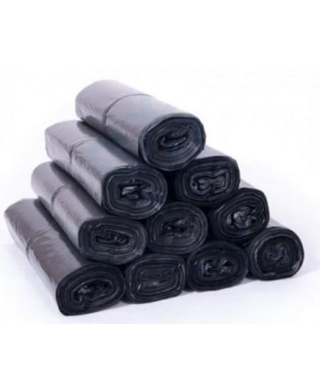 Šiukšlių maišai, 140 l, 10 vnt., storis 35 µm, LDPE, juodi