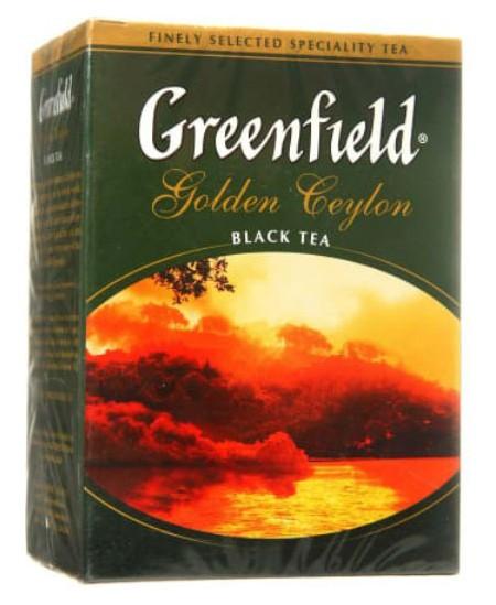 Biri juodoji arbata GREENFIELD Golden Ceylon, 100 g