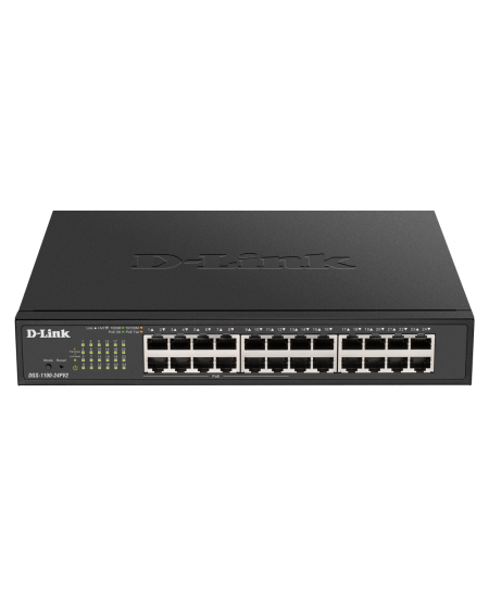 D-Link Smart Switch DGS-1100-24PV2 Managed, Rack Mountable, PoE ports quantity 12, Ethernet LAN (RJ-45) ports 24