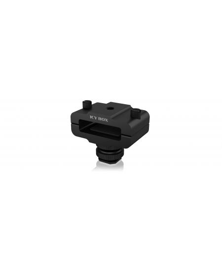 Raidsonic Enclosure clamp for camera IB-CA100 Black, Clamping width of 9 to 16 millimetres, all standard M.2 storage enclosures