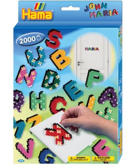 HAMA midi karoliukų rinkinys - raidės