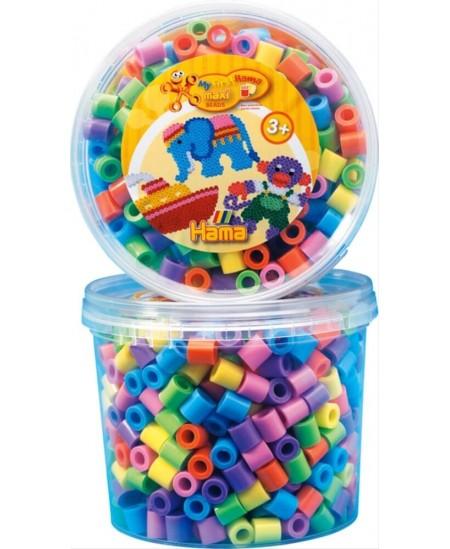 HAMA maxi pastelinių spalvų karoliukų rinkinys dėžutėje
