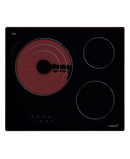 CATA Hob TT 603 Vitroceramic Hob, Number of burners/cooking zones 3, Touch, Black