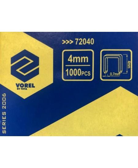 Sąsagėlės - kabės VOREL, 4 mm, 1000 vnt.