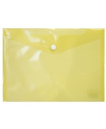 Dėklas - vokas su spaustuku ELLER, A5, geltonas