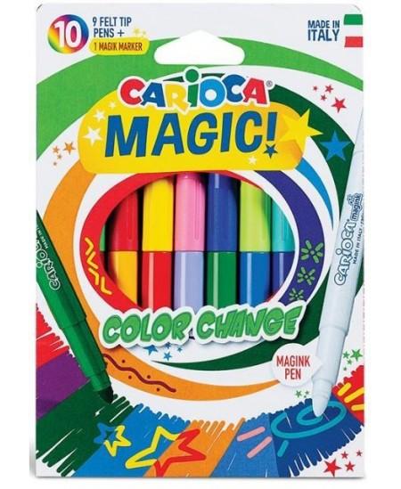 Flomasteriai CARIOCA Magic Color Change, 10 spalvų