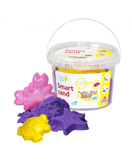 Išmanusis smėlis su formelėmis, 0.5 kg, violetinis