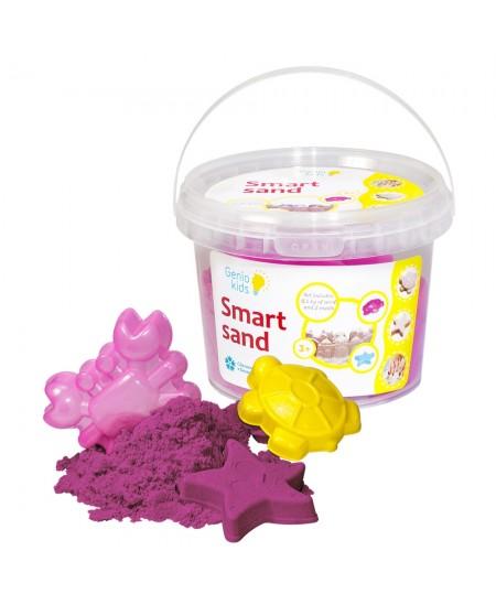 Išmanusis smėlis su formelėmis, 0.5 kg, rožinis
