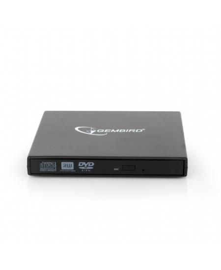 Gembird External USB DVD drive  DVD-USB-02 Interface USB 2.0, DVD, CD read speed 24 x, CD write speed 24 x