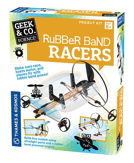 """Mokslinis rinkinys Geek&Co """"Rubber Band Racers"""""""